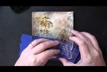 Cards with water colour