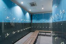 Torrance Park Golf Club / #glasslocker # vanities #cubicle #marathonsystemD # benchseating # cabrillant600 #locker