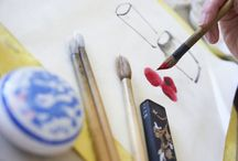 Chinese Brush Painting / Using an ancient and delicate art form, discover the orient with our Chinese Brush Painting images.
