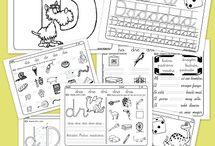 School - Lectoescritura / Iniciación a la lectura y escritura, abecedario, sílabas, formación de palabras...