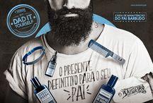 Dad It Yourself - O Barbeiro / Campanha para o dia dos pais da barbearia O Barbeiro, com kits promocionais para diversos tipos de pai, utilizando um conceito bem famoso da web que é o DIY - Do It Yourself.
