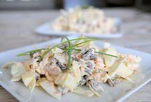 Salades / Witte kool salade met appel