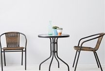 #1 Bistro Patio Table Set for Two with Metal Table and Chairs