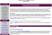 Great Newsletters For Teachers / Pins of TeacherIdeas for newsletters which are free and invaluable for teachers.