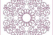 patrón bordado mexicano
