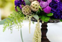 purple wedding flowers  / by Sophisticated Floral Designs