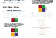 instruction for patchwork