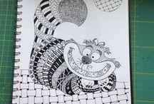 Zentangle-iffets8 / Zeichnen