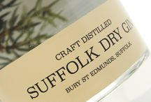 Suffolk Dry Gin / Manufactured using an ultra-clear material, our two labels for this excellent new gin create a striking visual effect that give this bottle a real edge on the supermarket shelf.
