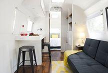 Caravanes // Airstream / La fameuse caravane air stream, idées d'aménagements et inspirations