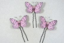 EPINGLES CHIGNON / épingles ou pics à chignon pour vos coiffures, papillons, libellules et fleurs