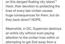 Humanity in superheroes