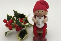 Handmade Nisse Christmas Decorations / These are beautiful handmade Christmas decorations from Germany.  Nisses are magical creatures from Scandinavian folklore.  Find under gifts on the website.