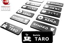 Black & White Name Badge