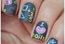 School nail art / paznokcie, wzorki, zdobienia, manicure, nails, nail art, nail design,