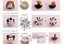 cute pompon animales