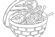 Embroidery:  baskets