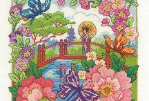 Flowery Cross Stitch / Floral cross stitch charts & kits we love