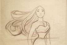 Pocahontas Dessin