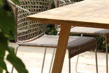 Outdoor Dining Chairs / Outdoor dining chairs made of A-Grade teak, outdoor wicker, marine grade stainless steel, Batyline® mesh and even raw concrete are featured in our selection of fine outdoor furniture at Design Warehouse (www.designwarehouse.co.nz)