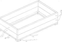 Outdoor Sectional - Design Only / Design sketches & measurements for the outdoor sectional