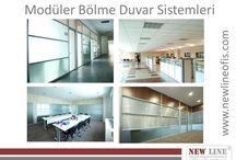 Modüler Bölme Duvar Sistemleri / www.newlineofis.com