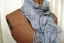 Lace and cotton scarves at Brayton Cottage
