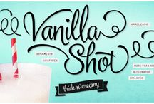 Vanilla Shot Type Family / Vanilla Shot is a smooth script family with two weights and an ornament set. Vanilla Shot has it's roots in commercial American sign painting of the 1950s and 1960s.