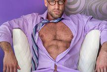 Men in purple