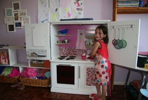 EY101 creations / Play Kitchen ... Reused TV Cupboard