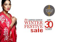 Winter Festive Sale / We are live! Join us on shopping.threadturner.com and discover a wide range of saris.