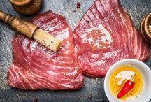 marinatura / pesce maiale agnello gamberi pollo baccalà