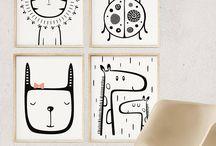 Nursery animal illustration