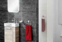 Ideen fürs Gäste-WC - unsere Sets / Hier sammeln wir Ideen für kleine Bäder und Gäste-WCs, ob von badedu oder anderen Nutzern bei pinterest.
