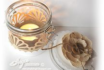 Xmas Decorations Candle Holders