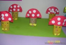 Mushroom craft idea / This page has a lot of free Mushroom craft idea for kids,parents and preschool teachers.