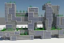 Megastructure / Megastructure Design Concept with green roofs