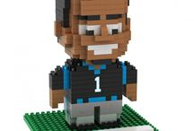 NFL Licensed BRXLZ / BRXLZ are building blocks that come with instructions to build your favorite player or team logo