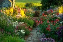 English Garden in Czech countryside
