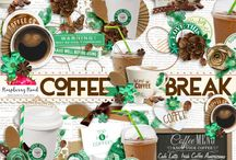 Coffee Break Scrapbook Collection / A coffee themed digital scrapbook collection. / by Raspberry Road Designs