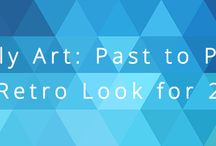 Low Poly Art - Design Trends 2016 / One of the most popular new trends in art and design is low poly (AKA Triangulation's).  Notable in a couple of forms, from flat low color surface art (both uniform and erratic placement) to faux 3D conversions of 2D imagery. Read full story here: http://metwest.com/2016/04/low-poly-art-past-present-retro-look-2016/