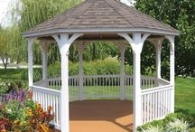 GAZEBOS AMISH BUILT / Amish built gazebos. Choice of vinyl or treated,, screened in, bench seats.