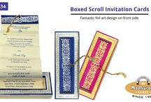 BOXED SCROLL CARDS / Gorgeous Collection of  Box Scroll Invitation Cards By Madhurash