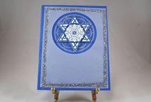 Hanukkah Cards / Our homemade Hanukkah cards