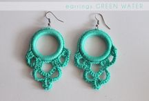 My crochet earrings creations / Earrings handmade crochet with beads and rhinestones    https://www.facebook.com/pages/Ivi-Love/1436691146568639