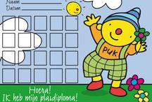 Puk tip: voor pm'er en ouders /  hoeken - tips - logeer puk - dagritme kaarten
