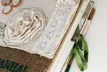Linen & Burlap Oh My / #vintage, #linen, #burlap