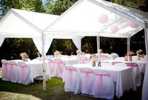 Outdoor marquee themed