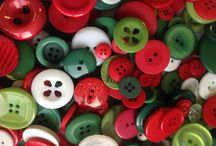Bags of buttons / Bag of buttons in lots of colours for every use, from sewing, knitting and crafting to scrap books, cards and collages. Great value in different size bags.