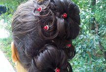My work- Munca mea ! / Cateva din aranjamente realizate de mine.  A few hair styles made by me.
